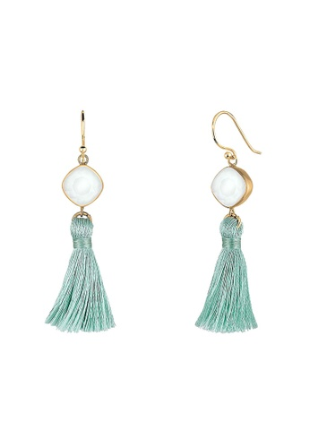 Elli Germany gold Elli Germany Earrings Tassel Geo Swarovski® Crystals Pastel 925 Sterling Silver 234DBAC472F303GS_1