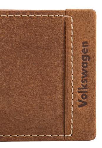 Volkswagen brown Volkswagen Genuine Leather Bi-Fold Wallet VO089AC00EJRMY_1
