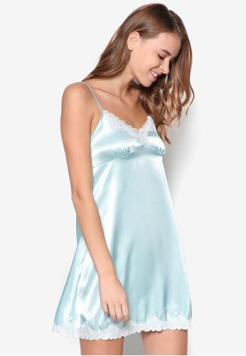 緞面細esprit台灣官網肩帶睡裙, 服飾, 睡衣