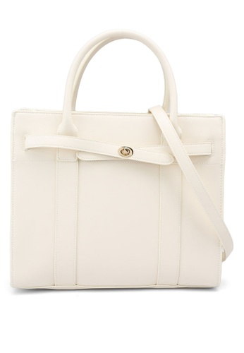 Forever New white Cecily Structured Tote Bag 47BCFACD3F80DEGS_1
