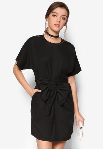 前蝴蝶結esprit台灣網頁短袖洋裝, 服飾, 洋裝