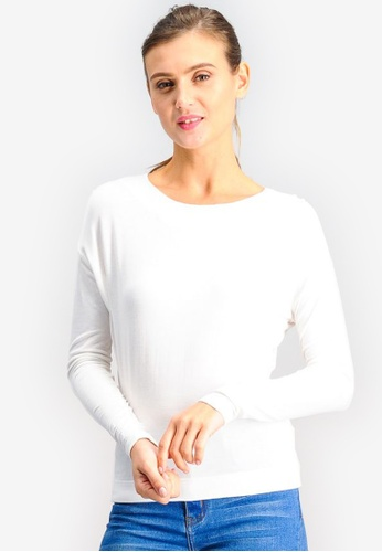 BENCH white Long Sleeve Tee DDC95AA92AAC93GS_1