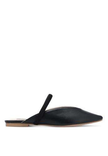ZALORA black Faux Leather Backless Slipper CD3A9SH37413F3GS_1