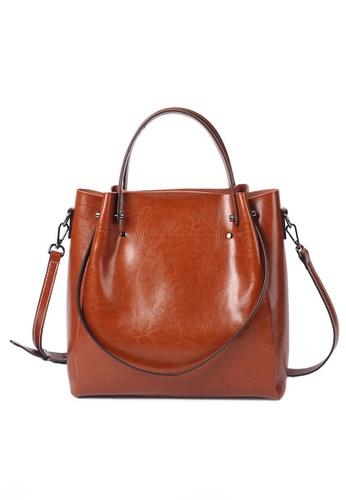 Twenty Eight Shoes brown VANSA Simple Design Hand Bag   VBW-Hb2107 AAE3DACD17F061GS_1