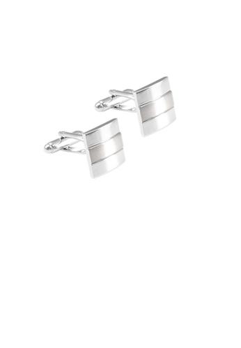 Glamorousky silver Fashion Temperament Geometric Square Cufflinks 07B0FAC10F845DGS_1