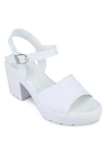 Hetzalora 包包評價 寬帶繞踝粗跟涼鞋, 女鞋, 涼鞋