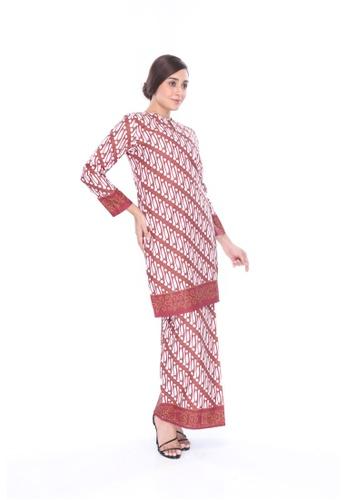 Amar Amran red Kurung Moden Batik Parang 745EDAAF0D60A0GS_1