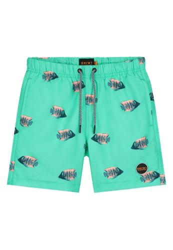 Shiwi blue Boy's Printed Swim Shorts 796D1KA723BA0FGS_1