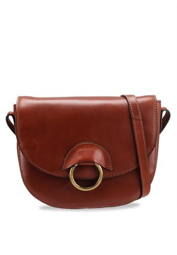 9b8929d3c2ea Buy Pieces Ivana Leather Crossbody Bag Online on ZALORA Singapore