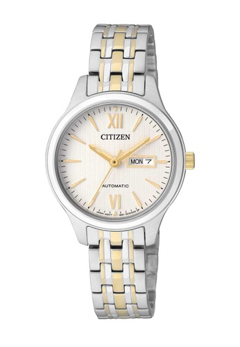 CITIZEN silver Citizen Gold and Silver Stainless Steel Watch 47737ACAF96856GS_1