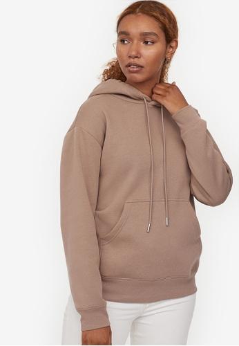 H&M beige Hooded top C0D00AAE429F08GS_1