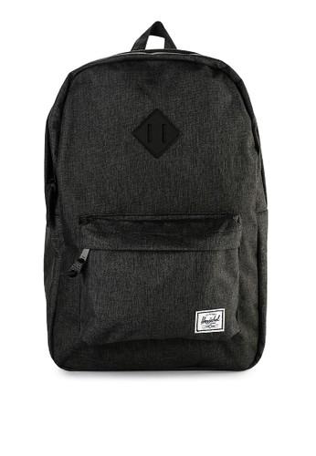 Herschel black Heritage Backpack EBCDCAC14B69F2GS_1