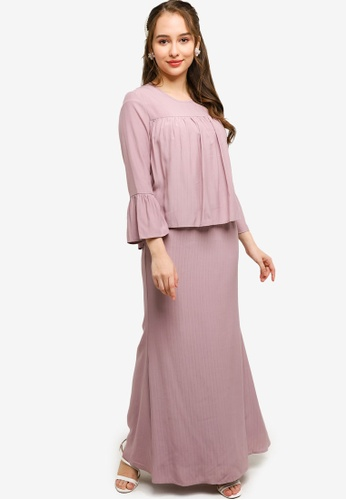 Lubna purple Babydoll Top With Mermaid Skirt FAB11AA3EFB08EGS_1
