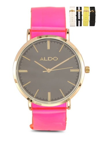 ALDO pink Heon Watch 344CCAC3114199GS_1