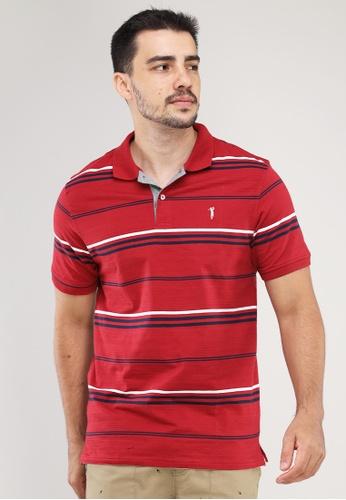 Bossini Men red Collar Shirt Crazyline Spx Stripes 90FE6AA45B667BGS_1