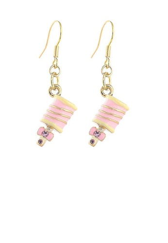 Glamorousky pink Glistering Baby Handbell Earrings with Pink CZ 1A8AEAC795EE7EGS_1