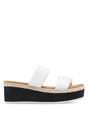 Rubi 白色 Jewel Toe Loop Flatform A77E2SHA6E7CE2GS_1