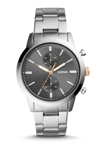 Fossil silver Fossil 44Mm Townsman Stainless Steel Watch FS5407 89CCAAC6B6599DGS_1