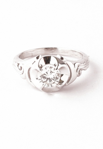 CEBUANA LHUILLIER JEWELRY silver 14 Karat White Gold Lady Ring With Diamond C78EDAC6845A94GS_1
