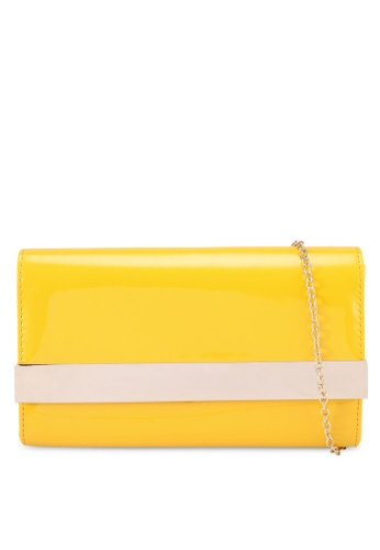 Red's Revenge yellow Minimalist High Gloss Patent Clutch EE22AACA5E373EGS_1