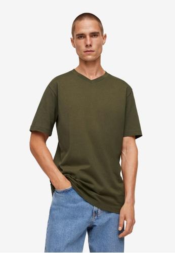 MANGO Man green Sustainable Cotton Basic T-Shirt 5FB37AA715389FGS_1