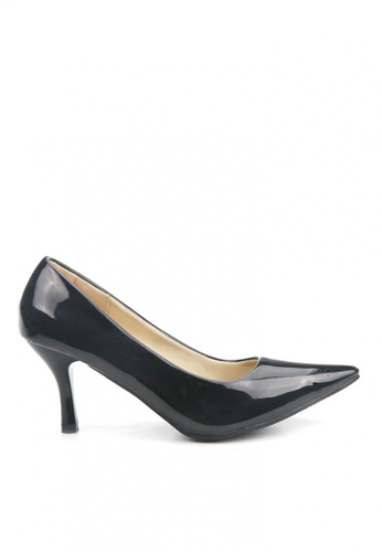 KissXXX 黑色 低反發舒適感美腿效果7CM小尖頭高跟鞋 KI603SH09MPITW_1