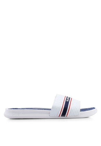 Superdry white Crewe International Slides 53923SHF1A96C0GS_1