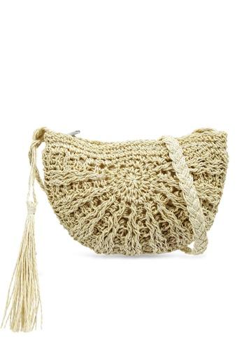 LC Waikiki beige Knit Pattern Straw Shoulder Bag C1670AC5E68C7AGS_1