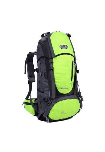 Local Lion Local Lion Steel Support Water Resistant Hiking Backpack 55L (Green) Free Rain Cover LO780AC29TGGMY_1