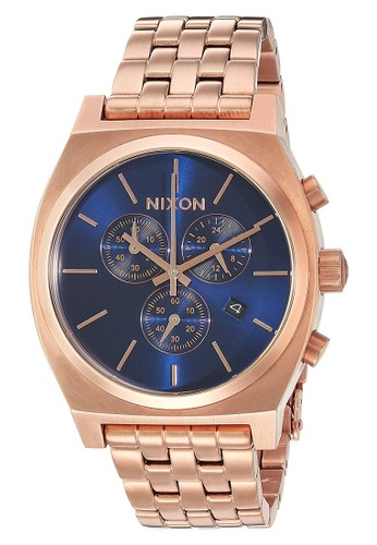 Nixon gold Time Teller Chrono All Rosegold/Navy Sunray 8A877ACC4AF482GS_1