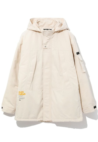 Fivecm white Over Human hooded jacket CC5E4AA5EB636BGS_1