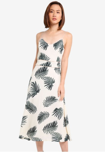 ZALORA white MIdi Dress With Back Tie B5A35AA530DAC1GS_1