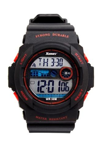 Timeless Manila black Xergy Marcus Strong Durable Digital Sports Watch 6217 TI209AC0IWMFPH_1