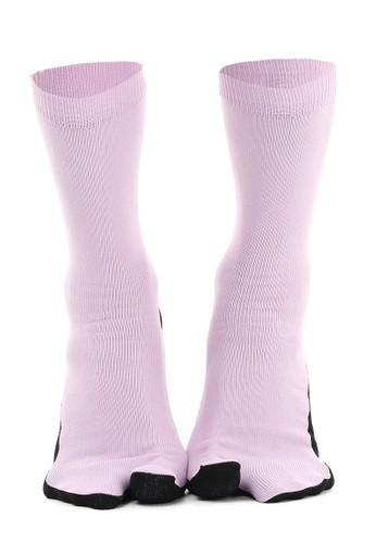 Hamlin lilac purple Hamlin Nercyla Kaos Kaki Wanita Toe Socks Two Tone Casual Footwear Material Spandex ORIGINAL 7FAC3AA1FF4A77GS_1