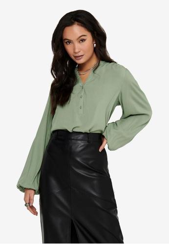 JACQUELINE DE YONG green Marlon Woven Shirt BC1A8AA4A744B0GS_1