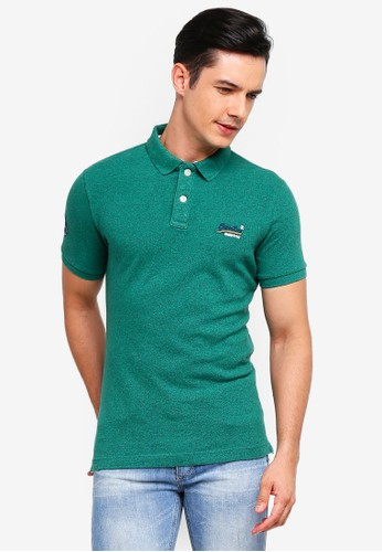 Superdry green Classic Short Sleeve Pique Polo CE23CAAF350888GS_1