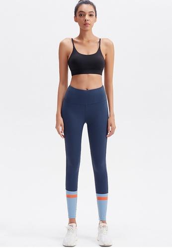 Trendyshop blue Colour Block High-Elastic Fitness Leggings 0655BUS5B02F00GS_1