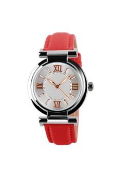 Leather Strap Quartz Watch SKM-9075