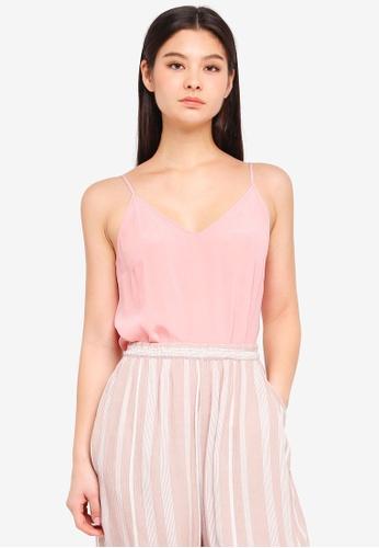 ICHI pink Crush Top D993DAA8399C7BGS_1