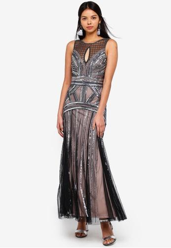 Miss Selfridge black Petite Black Maxi Dress 52E7FAA26C9892GS_1