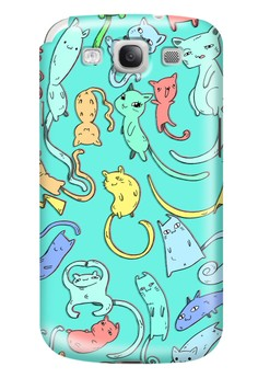 Cats Nekos and Kittens Glossy Hard Case for Samsung Galaxy S3