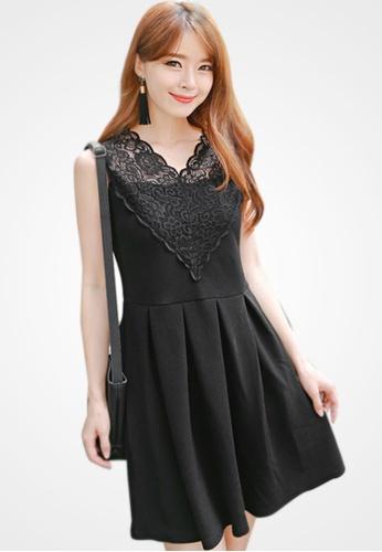 Sesura black Gorgeous Missy Pleated Dress D680DAABEDCFADGS_1