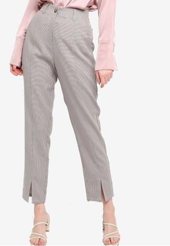 ZALORA WORK multi Tailored Pants With Slit 14B74AA1E69361GS_1