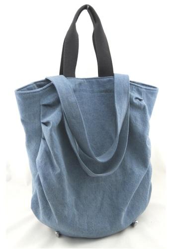 Esther Accessories blue Washed Denim 2 Way Tote ES153AC70VOJHK_1