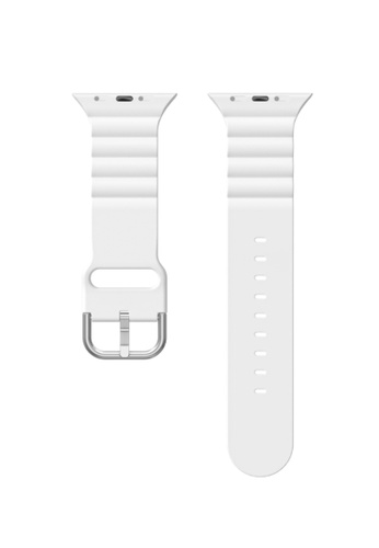 Kings Collection white White Silicone Apple Watch Band 38MM / 40MM (KCWATCH1066a) 454AAAC8A5D8BEGS_1