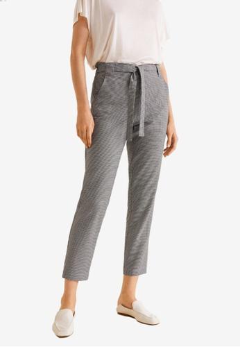 Mango black Cotton Suit Trousers 8F94EAAB1F1690GS_1