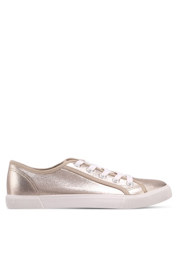 Dorothy Perkins gold Gold Iggy Lace Up Trainers 2919FSH64B058EGS_1