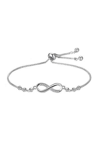 Elfi silver Elfi Stainless Steel Infinity Charm Adjustable Chain Bracelet 61EA7AC90695B1GS_1