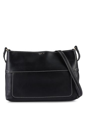 agnès b. black Stitch Detail Crossbody Bag 0CA55ACD96DC0FGS_1