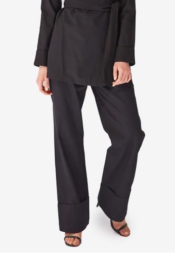 Trendyol black Folded High Waist Pants 5F9B3AAF467D14GS_1